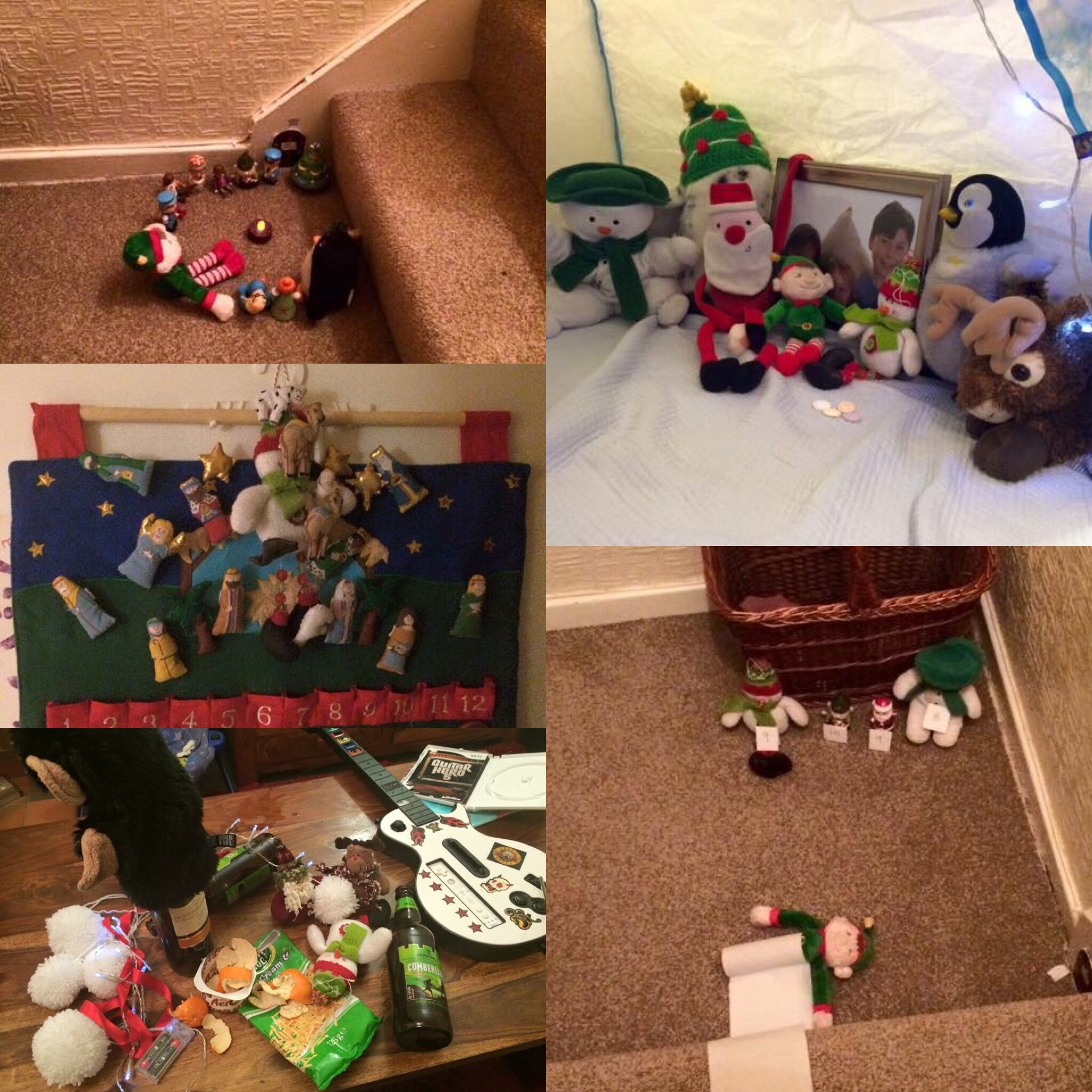 the elf being naughty