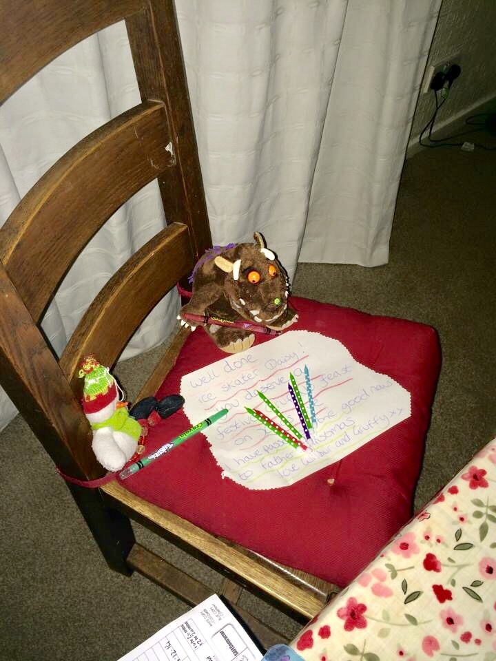 Teddy writing a letter
