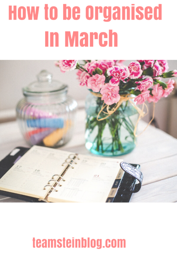 how to be organised in March Pinterest pin