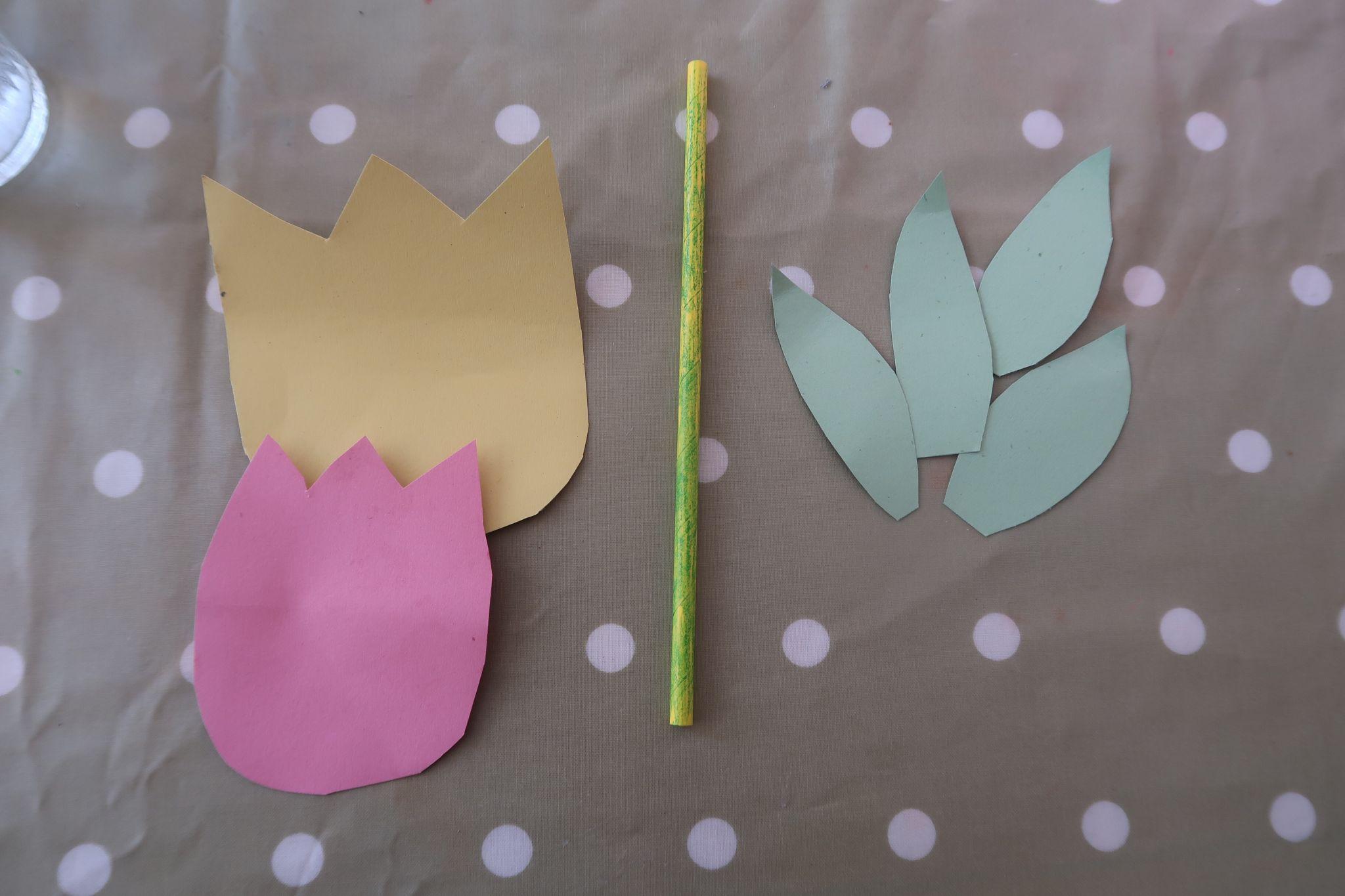 Tulip shaped card