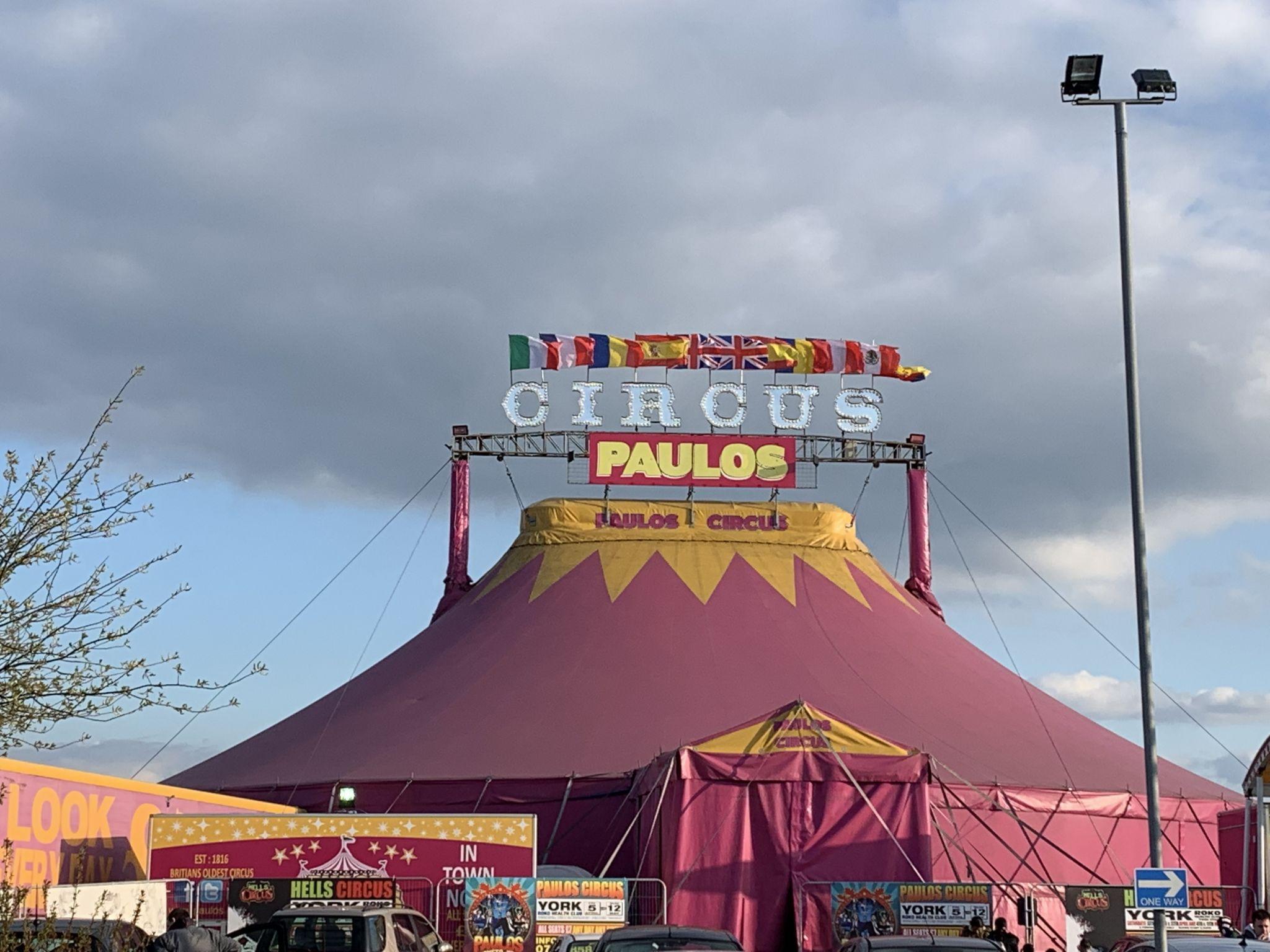 A circus big top tent