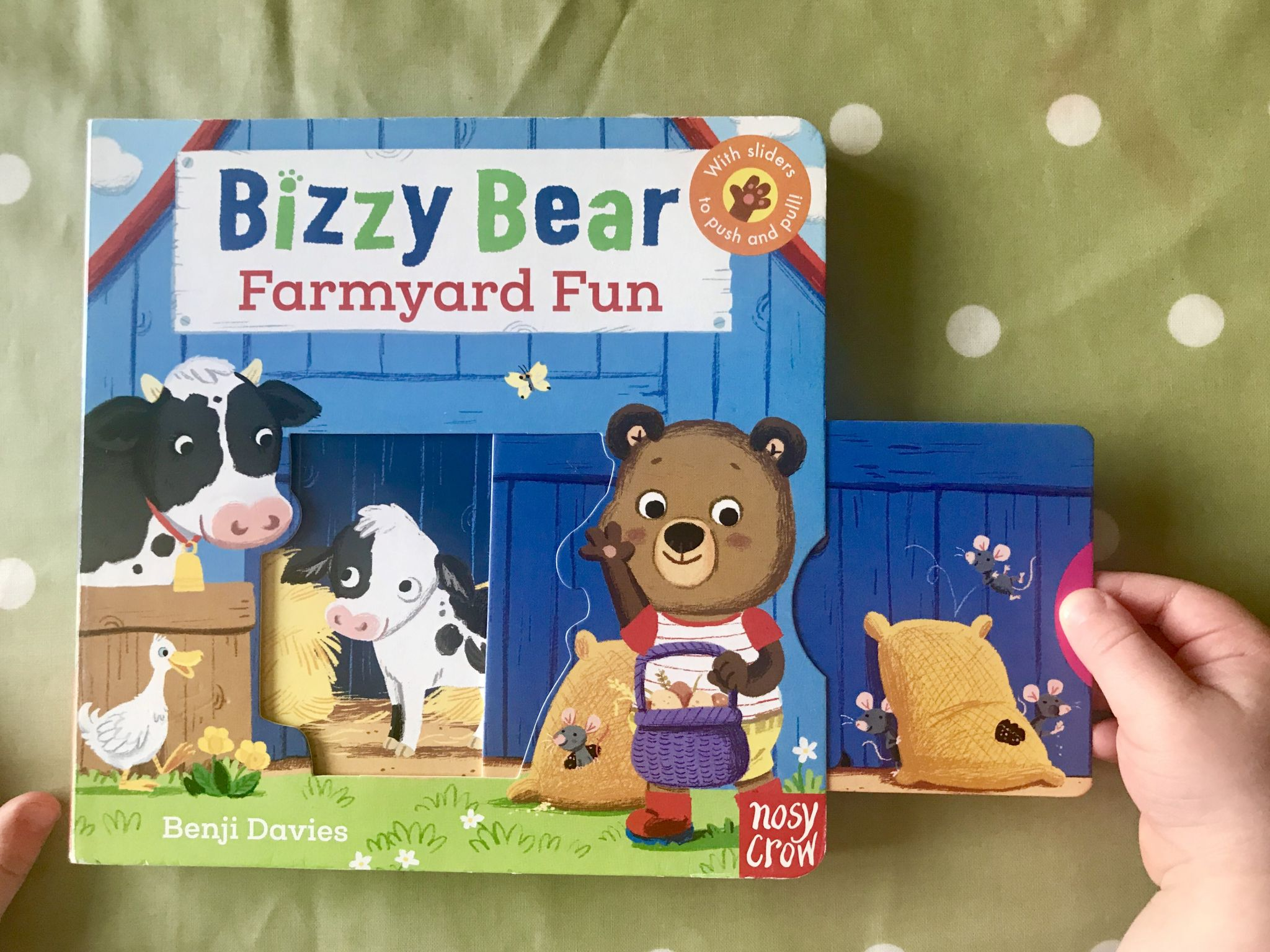 A toddler farmyard book