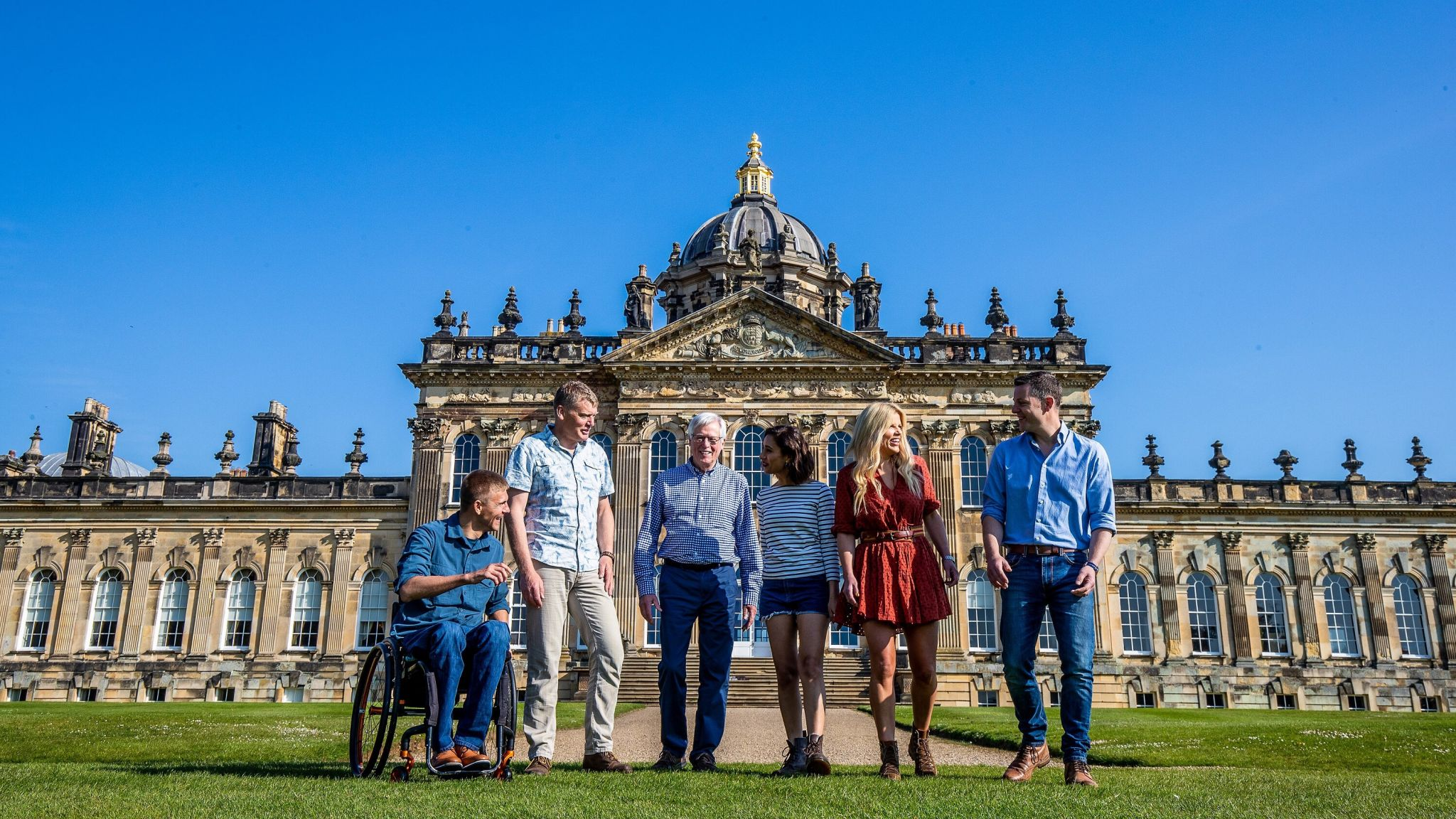 Countryfile presenters outside Castle Howard