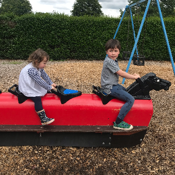 A seesaw in Homestead Park
