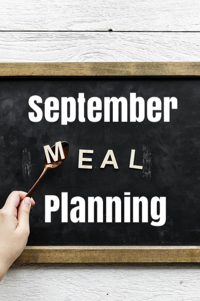 September meal plan poster