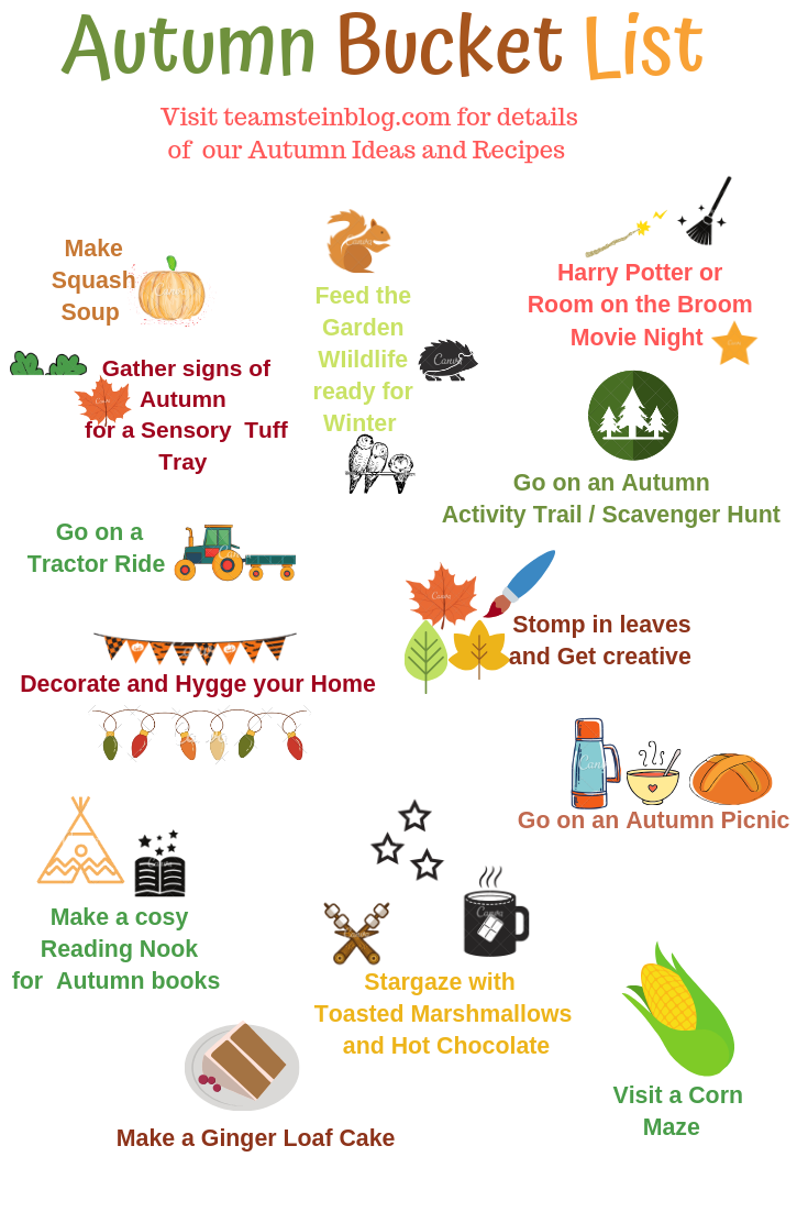 An Autumn Bucket List Poster