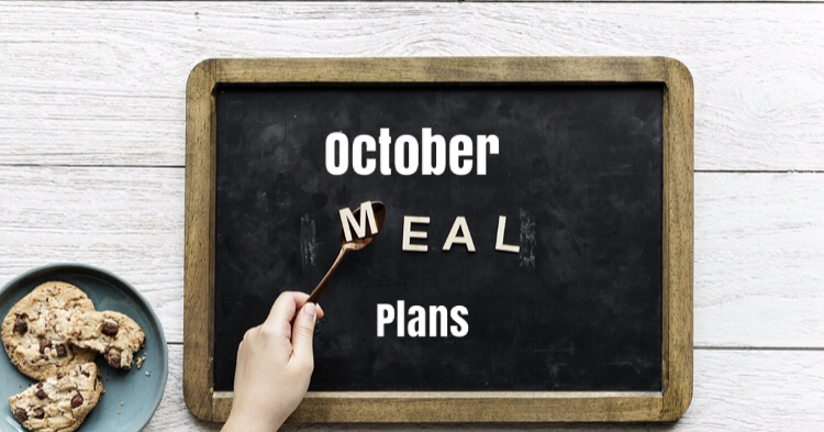 Chalkboard with Meal written on