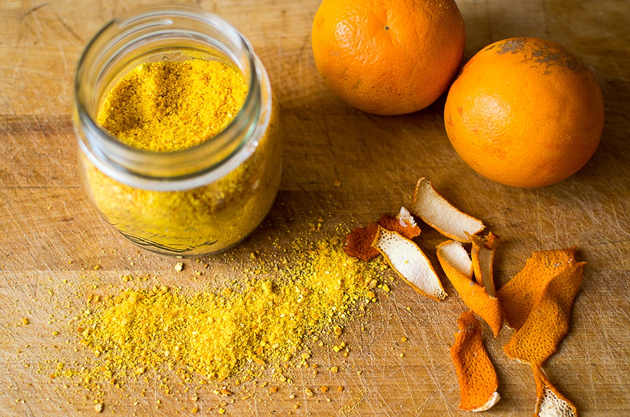 Spices and an Orange