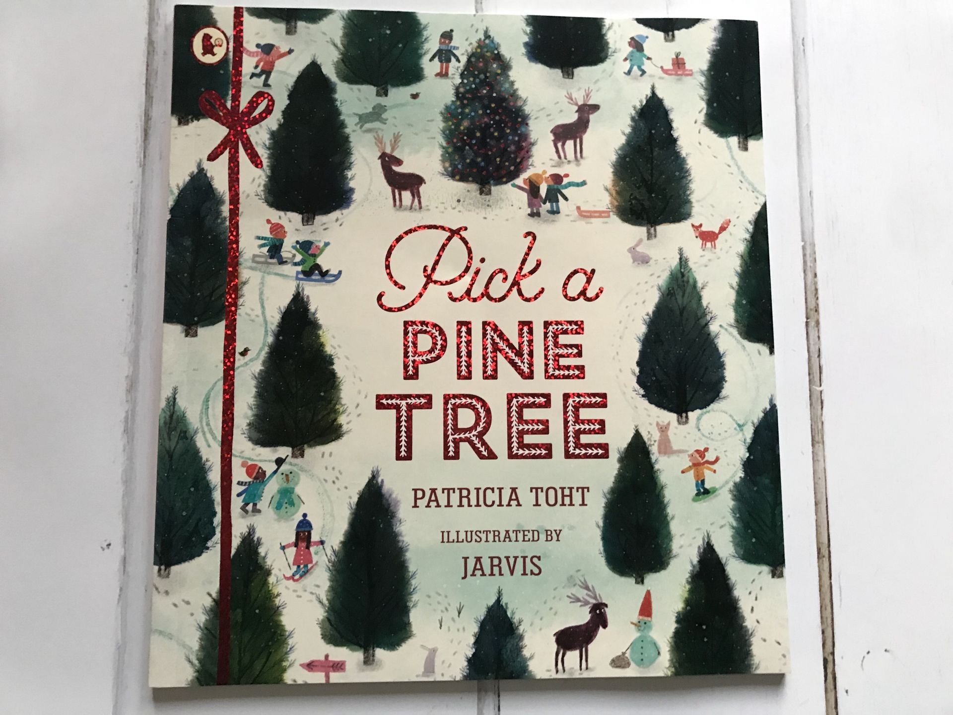 A Christmas storybook called pick a pine tree