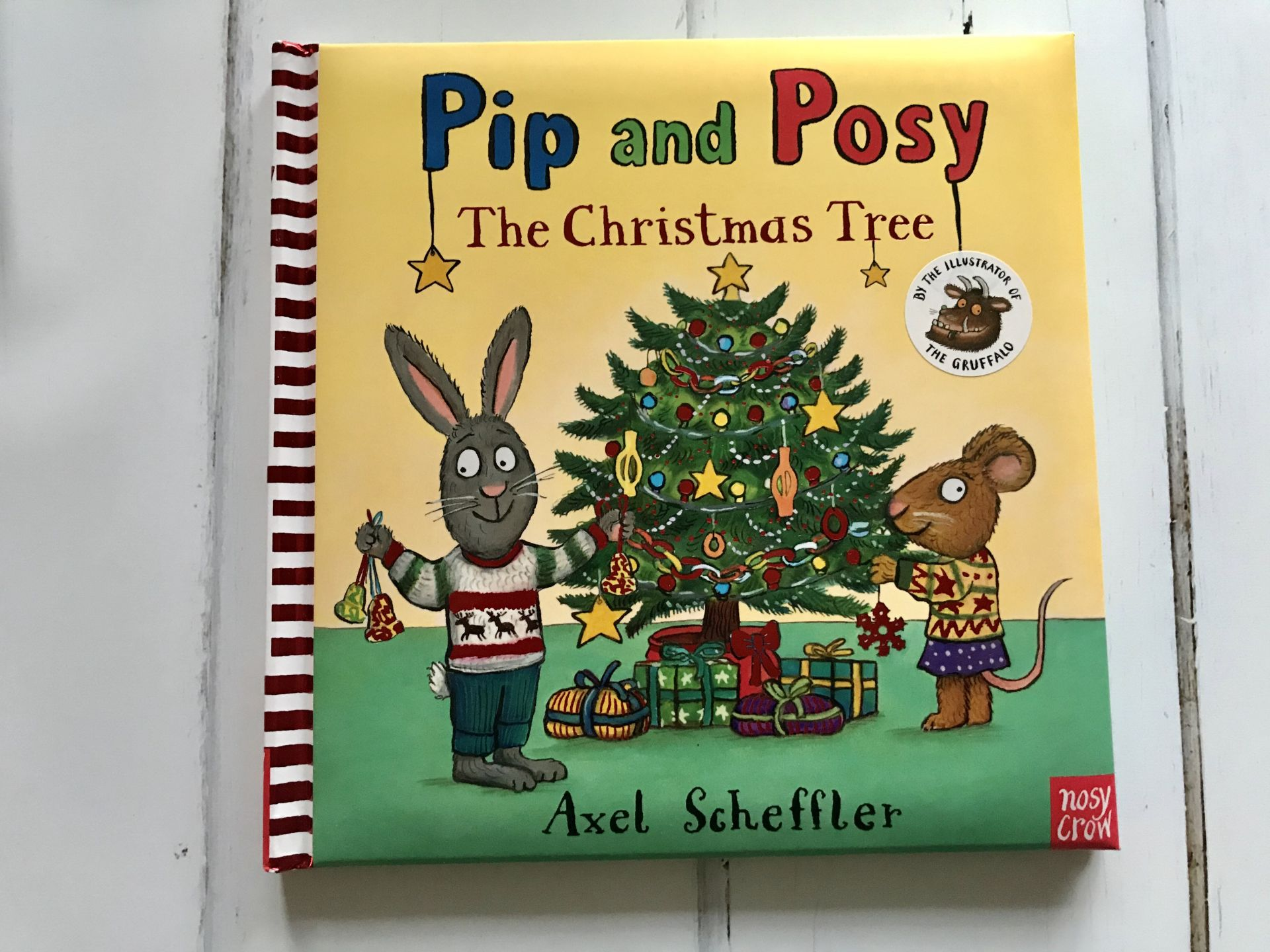A storybook called Pip and Posy and the christmas tree