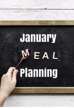 January meal plan pinterest pin
