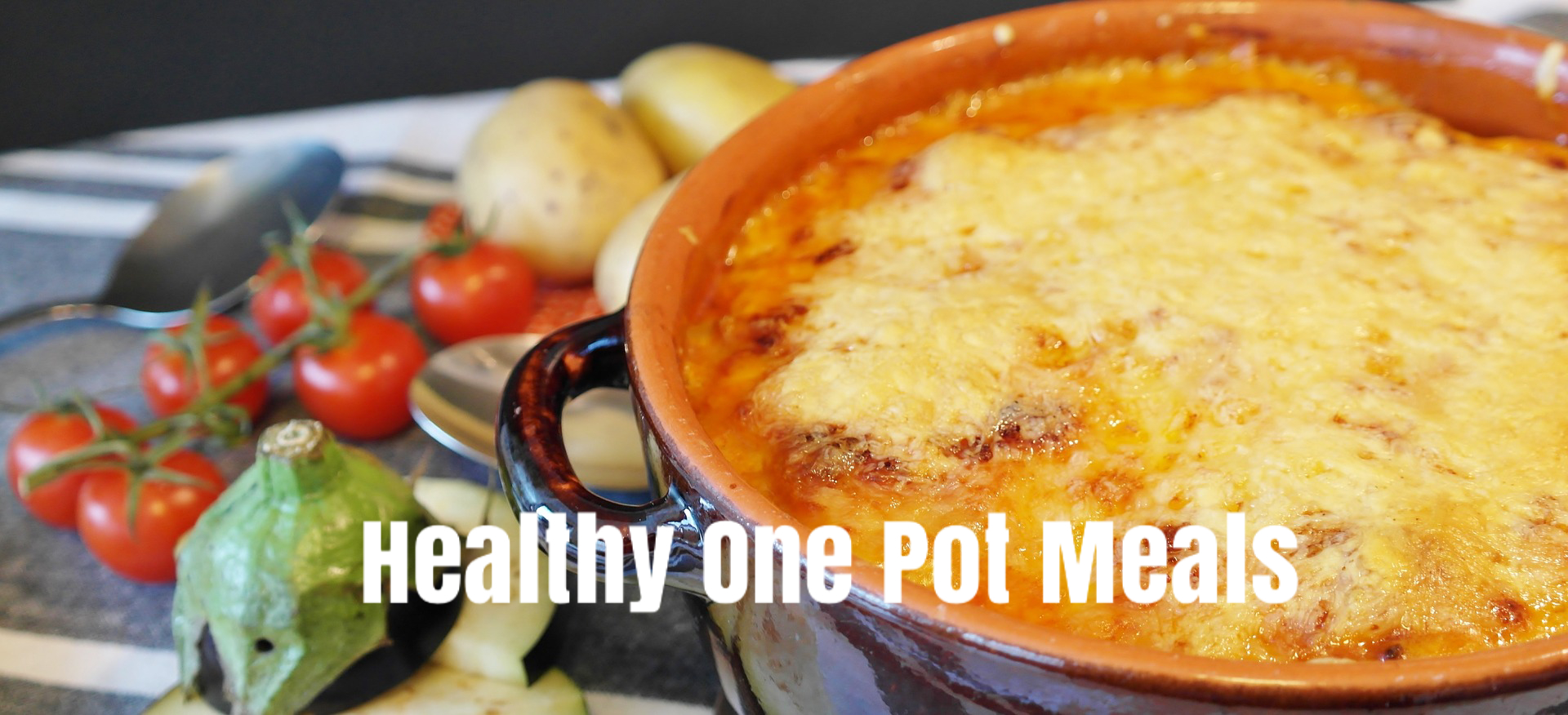 healthy one pot meal in a casserole dish