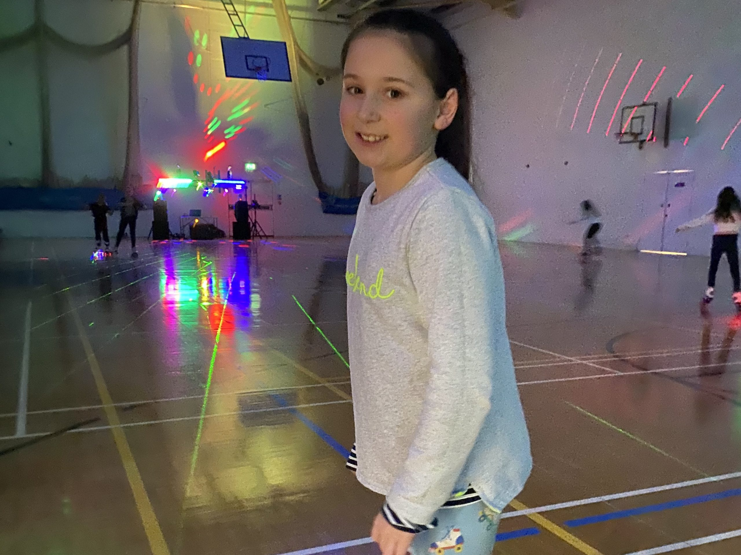 girl at the roller disco