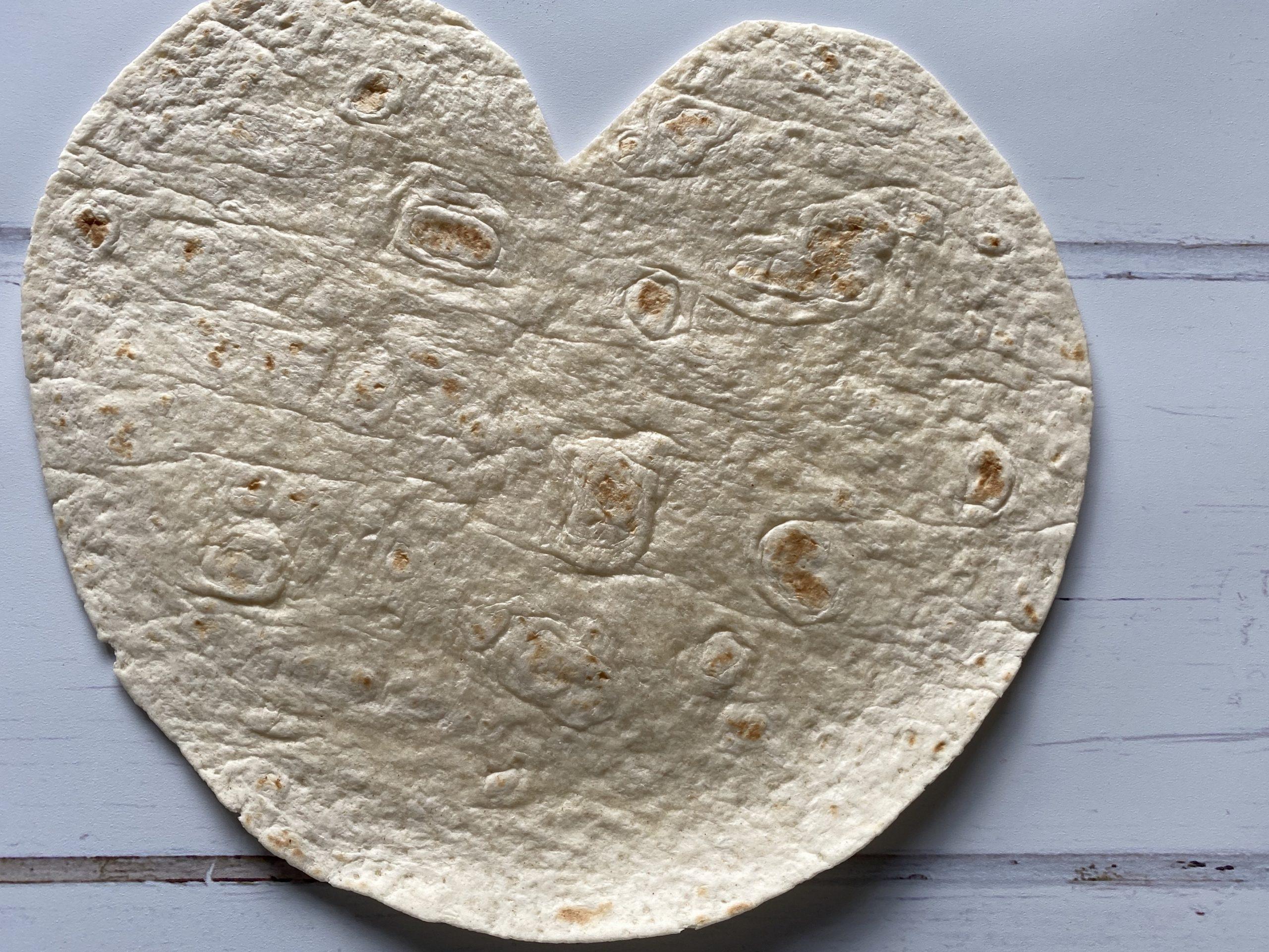 heart shaped tortilla wrap