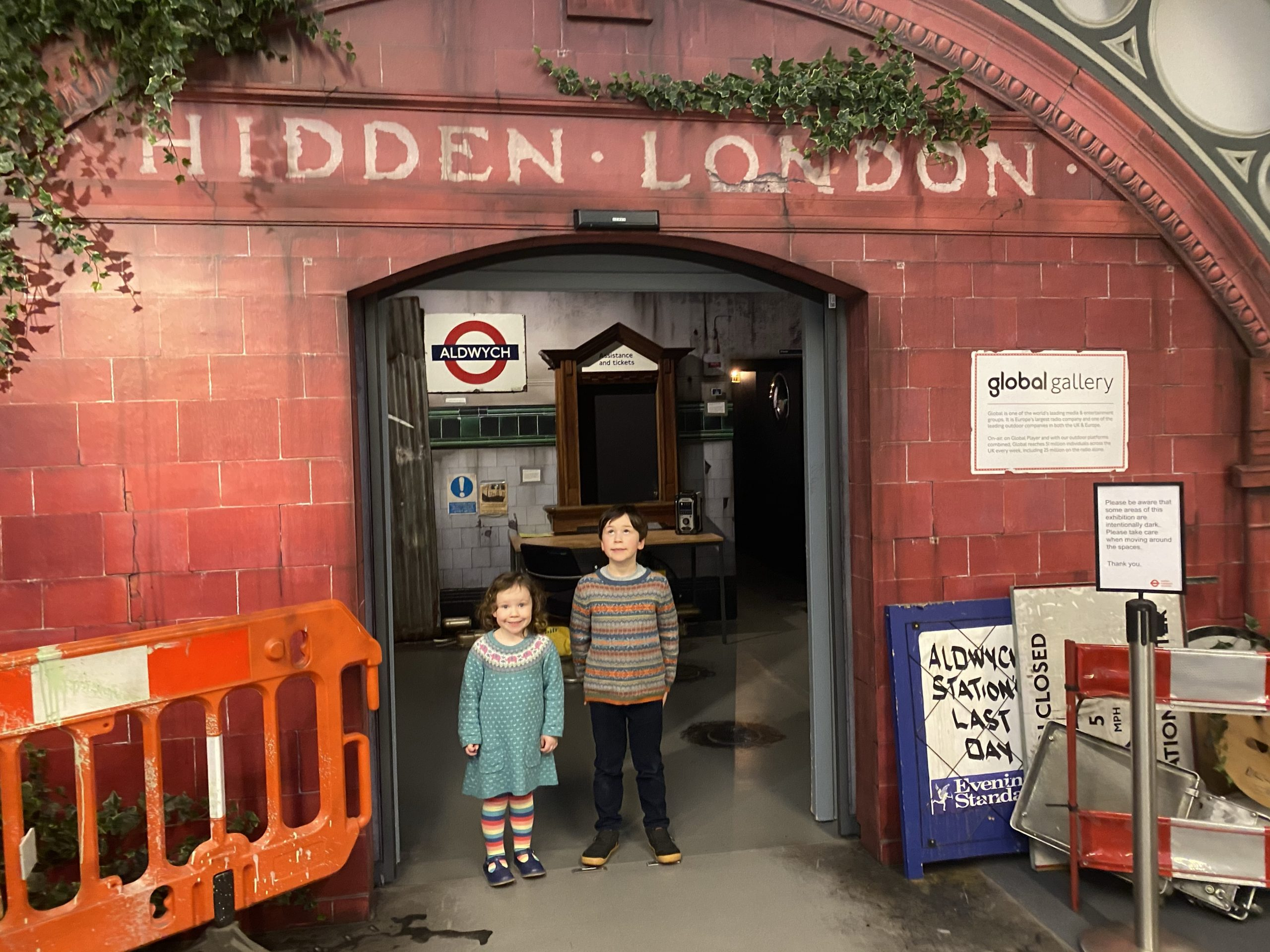 London Transport Museum Hidden London exhibition entrance