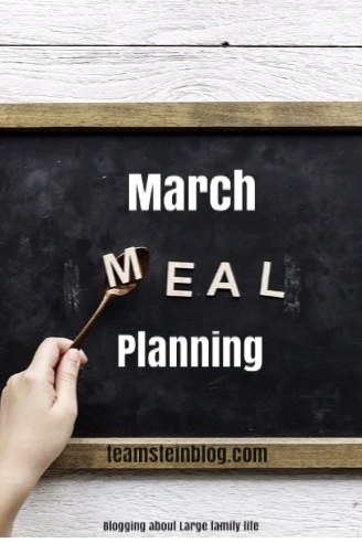 Family meals in March Pinterest pin