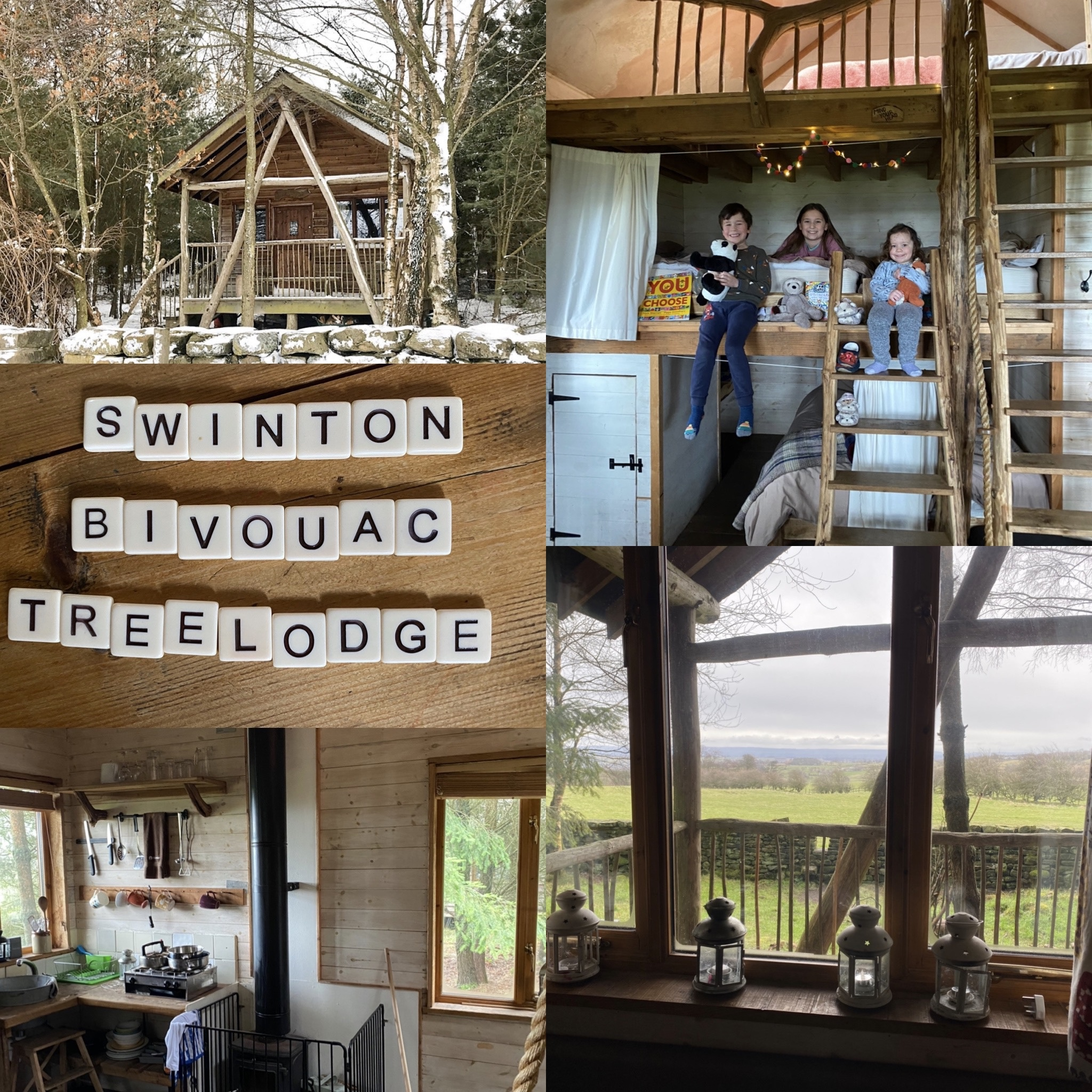 Swinton Bivouac tree lodge review with photos of inside and outside the lodge
