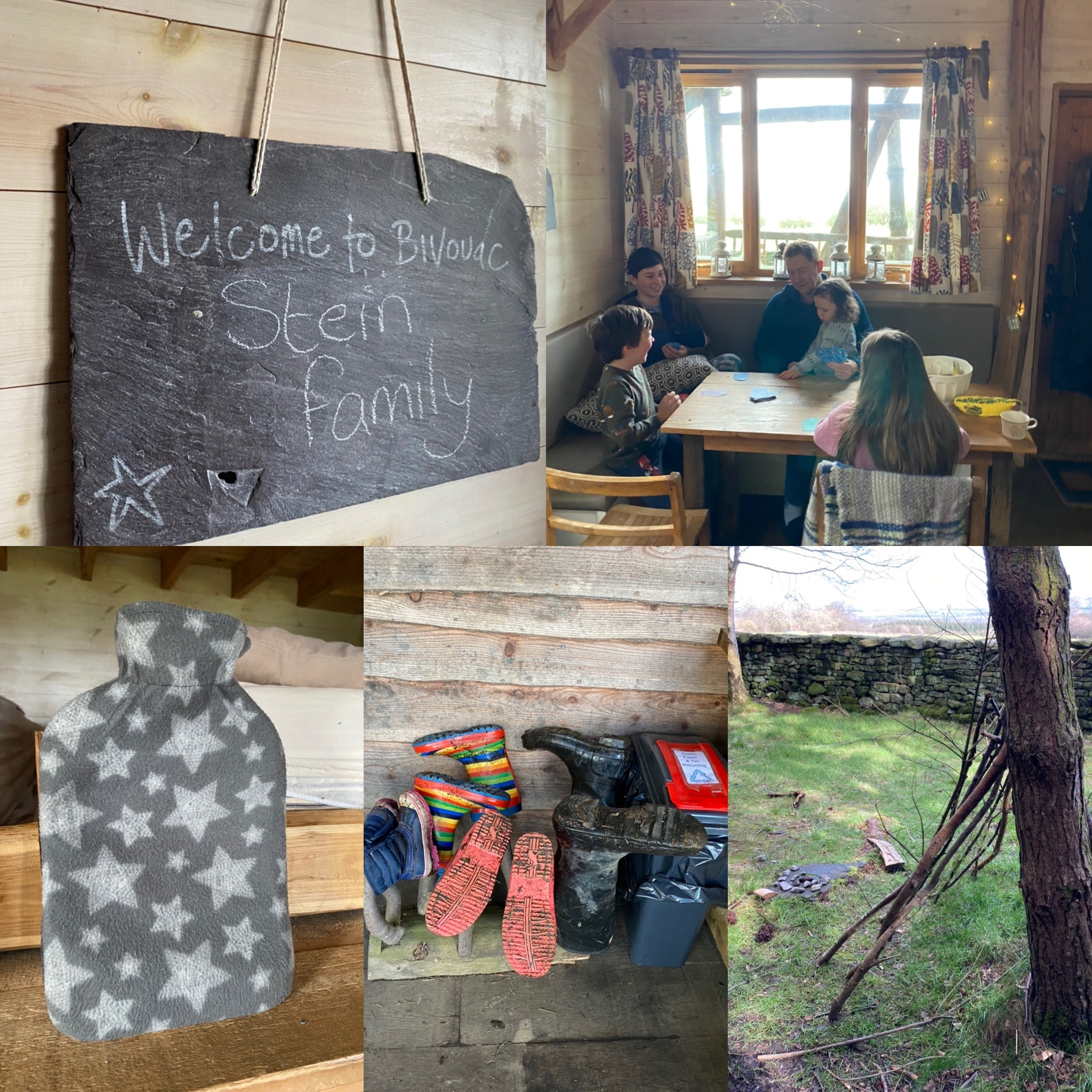 a collage of photos from Swinton Bivouac