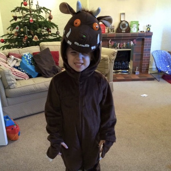 Gruffalo Party with a child dressed as a gruffalo
