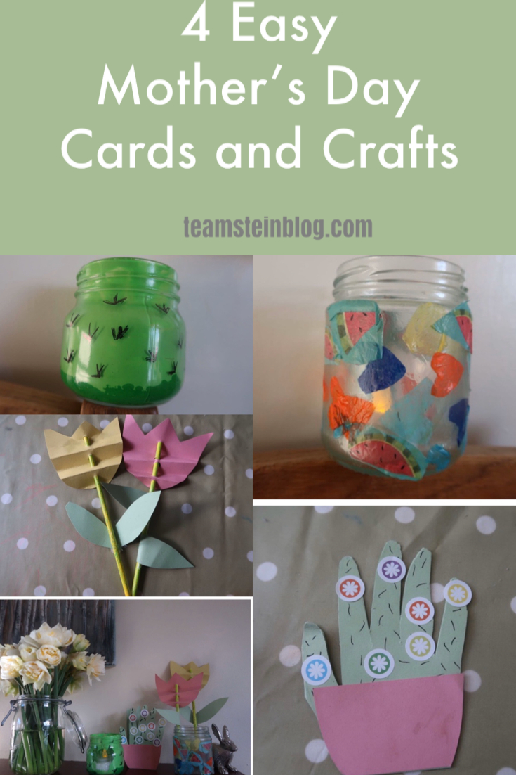 4 Easy Mother's Day Cards and Crafts Pinterest Pin