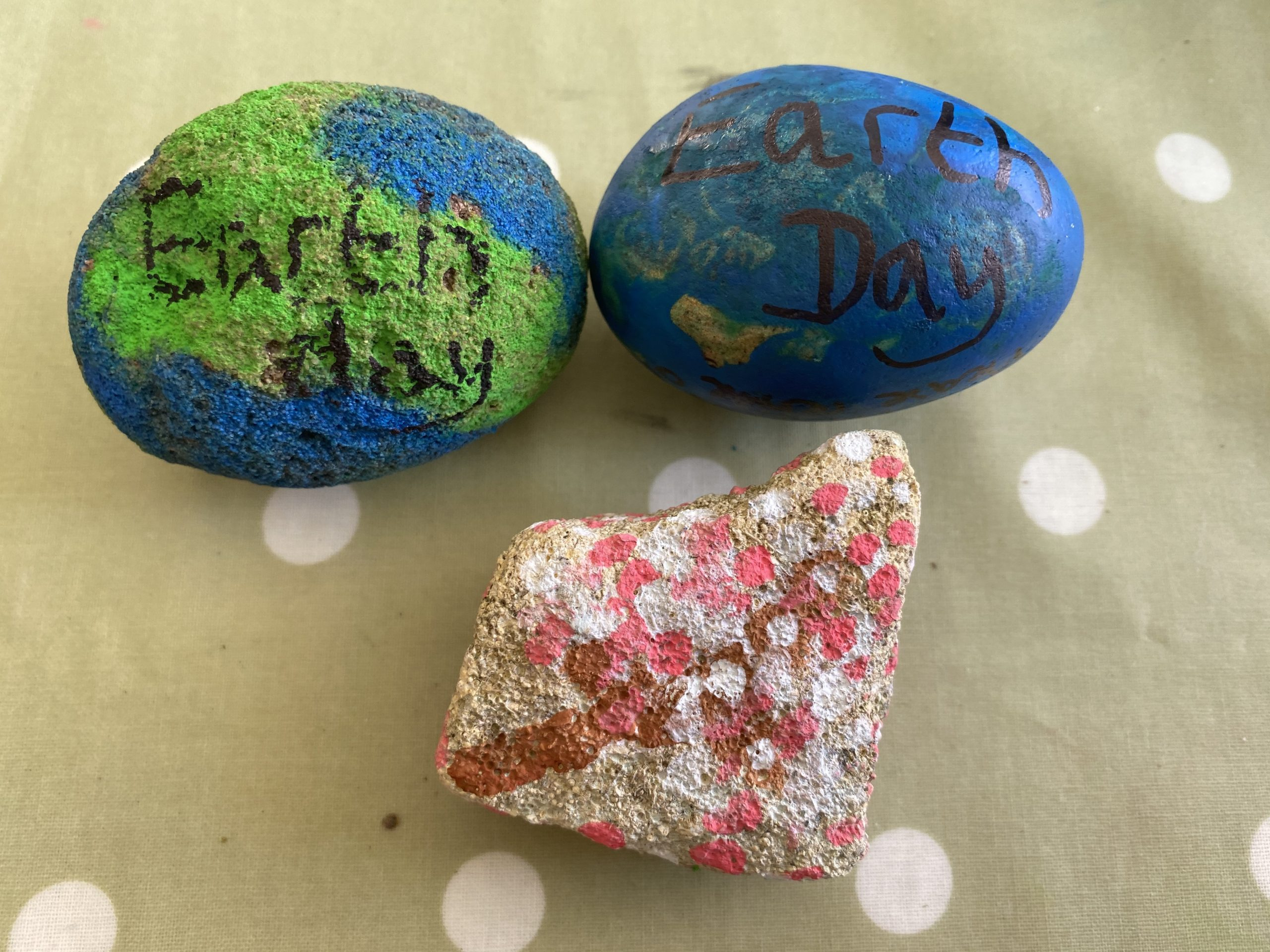Earth day decorated rocks