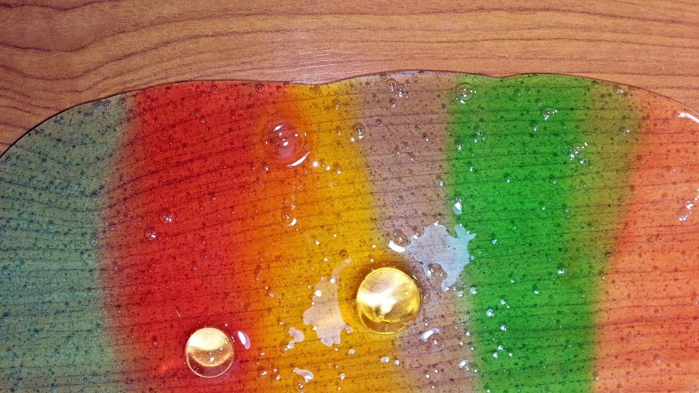 rainbow Slime on a table