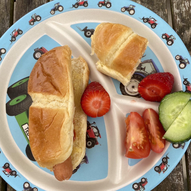 Hot dog brioche roll