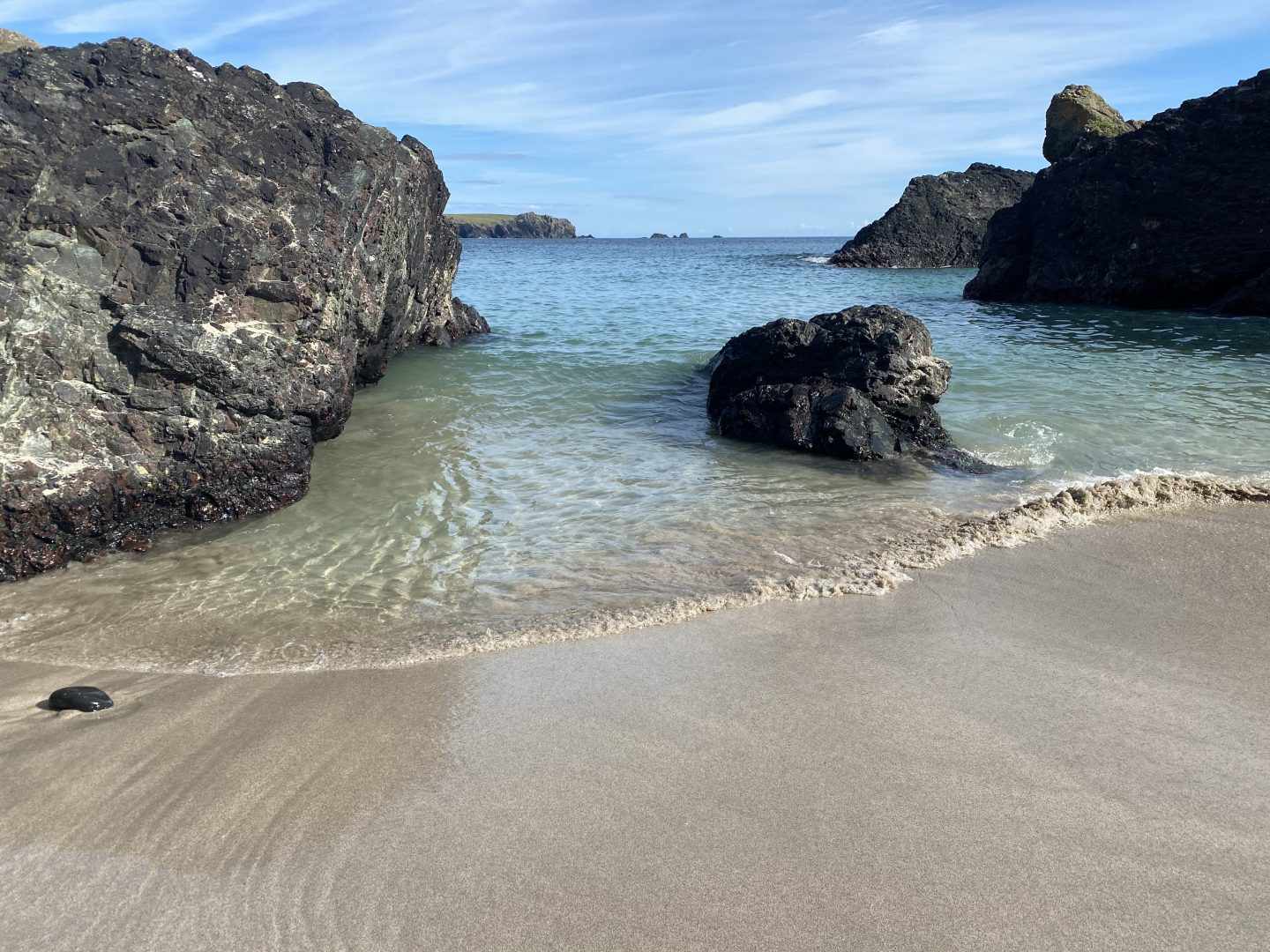 Kynace Cove - sea, beach and rocks