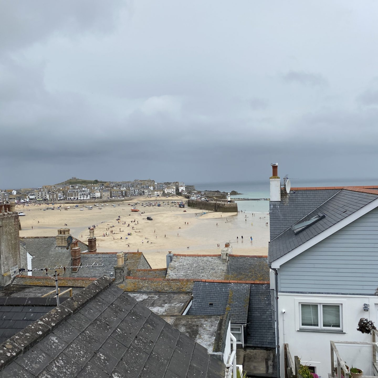 A view of St ives and the harbour