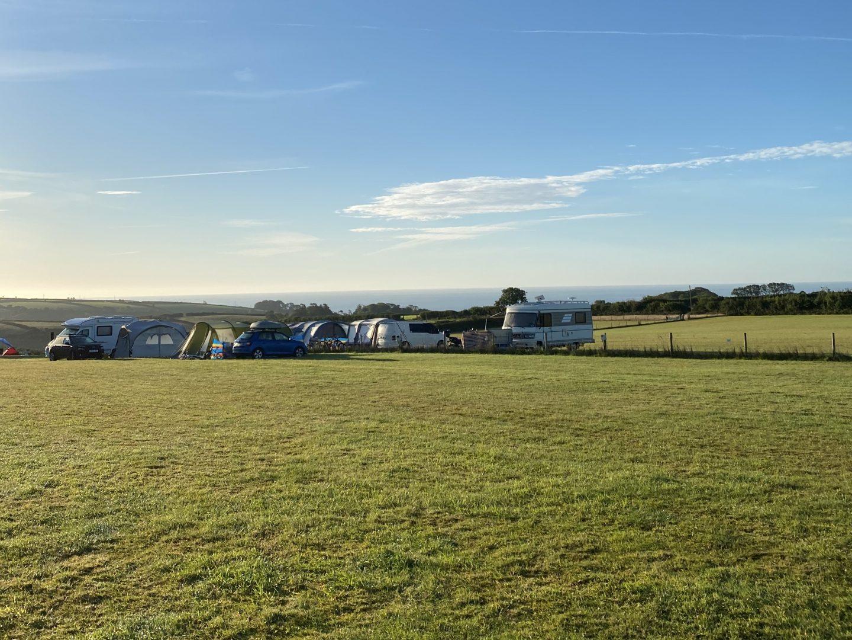 A view from Seaview campsite in Devon