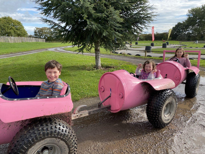 Piglets adventure farm tractor barrel ride