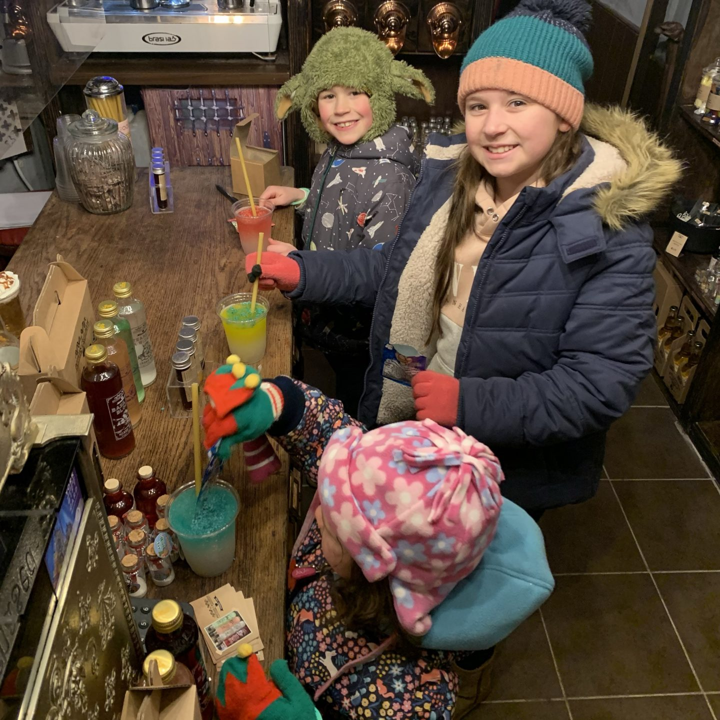 Christmas Holiday treat with a visit to Potions cauldron to make a potion