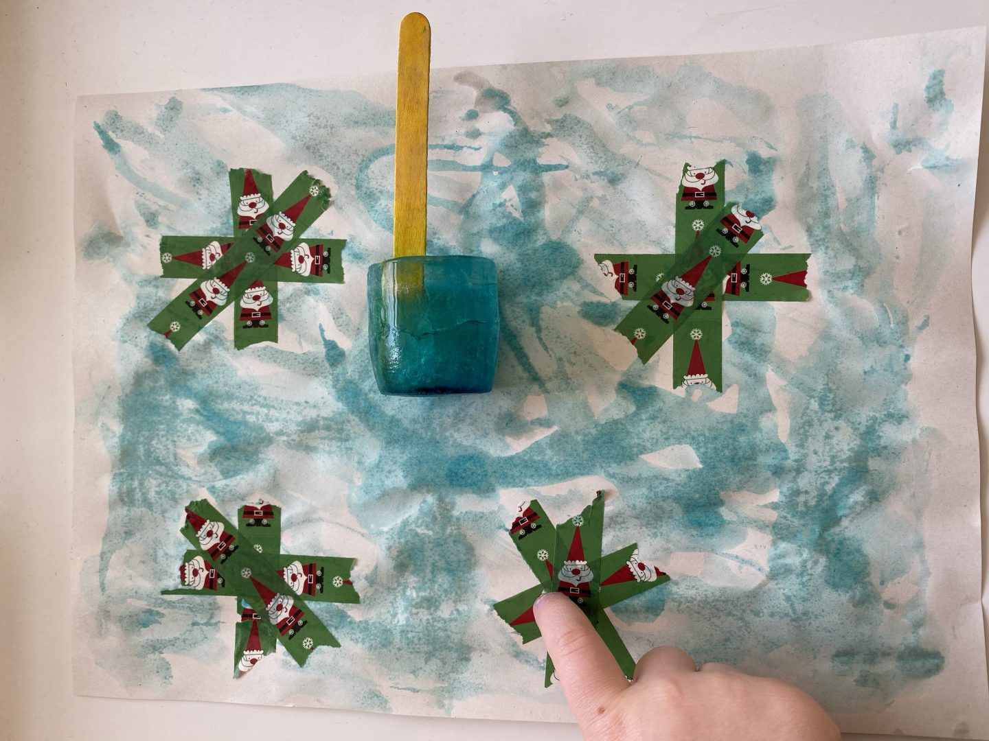 January activities with a picture with a blue ice cube